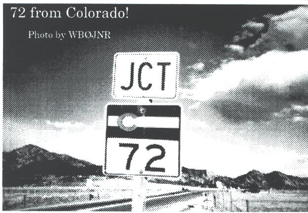 72 From Colorado Page 36 of the May, 1996 Low Down